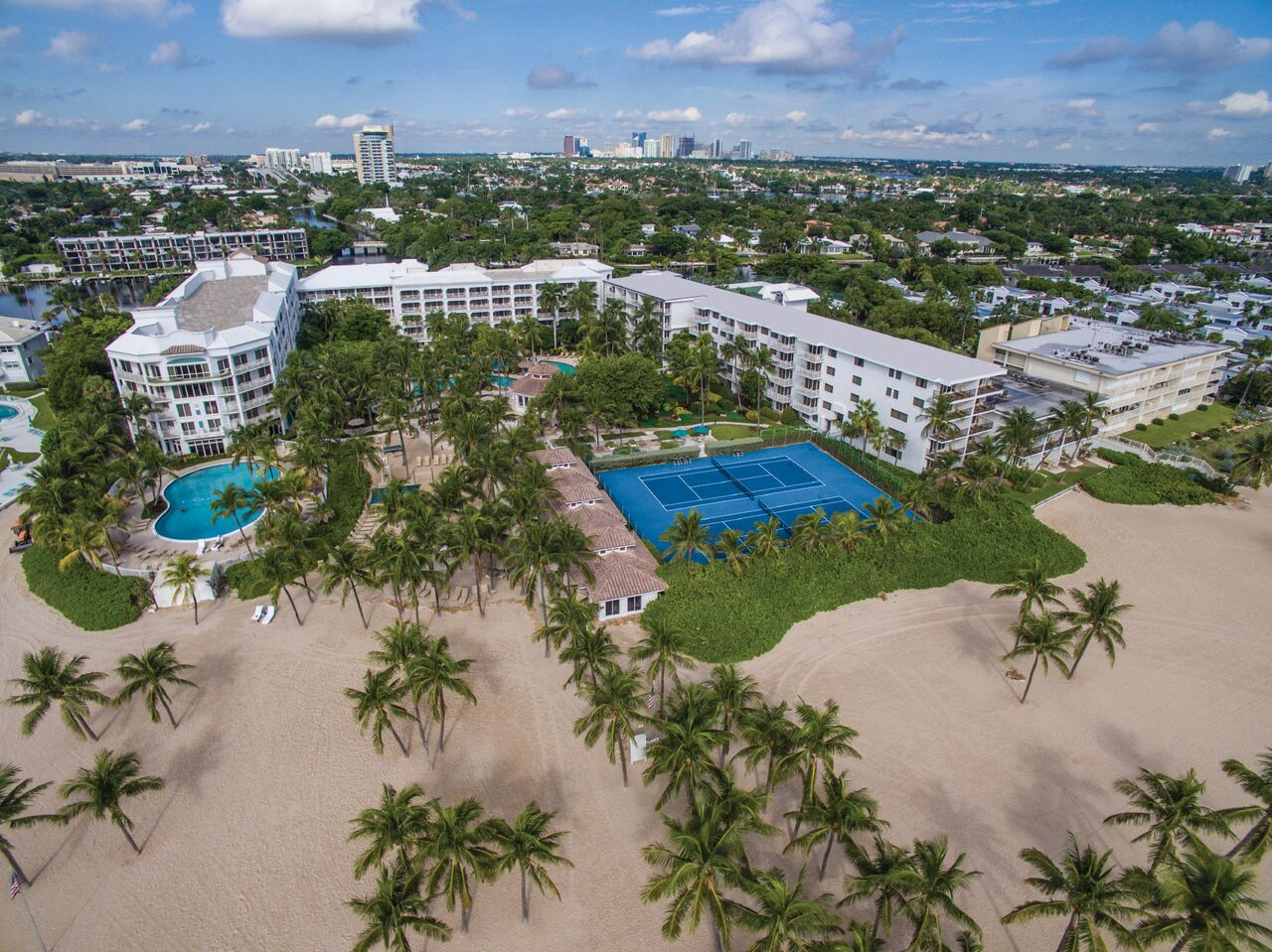 lago mar resort from above aerial