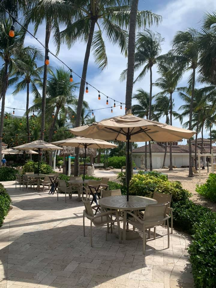 outdoor patio dining lago mar fort lauderdale resort