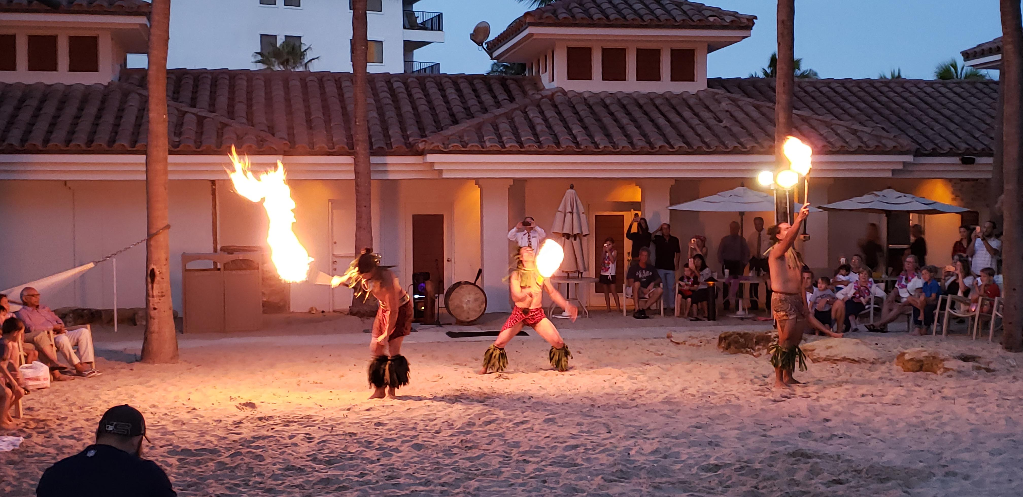 tahitian fire dancers