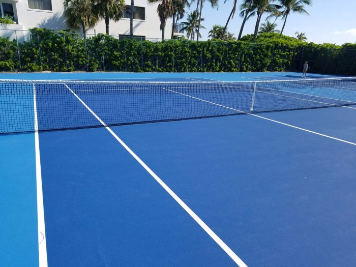 blue tennis courts new nets lago mar fort lauderdale