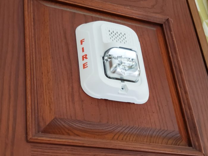 updated fire alarm system lago mar