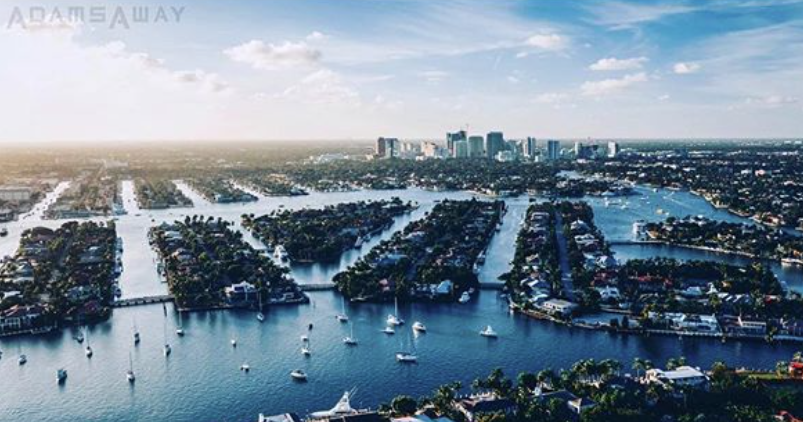 fort lauderdale international boat show 2020 adams away photography aerial