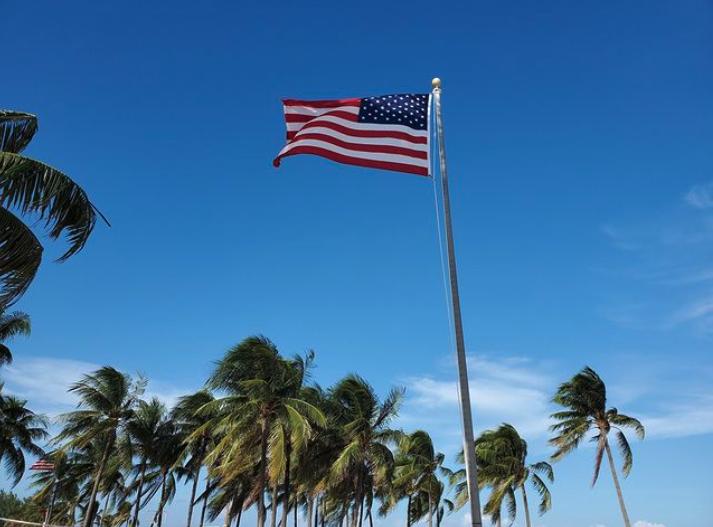 american flag lago mar resort fort lauderdale