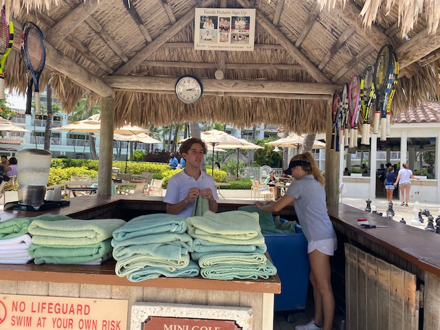fourth generation assists family business lago mar towel hut