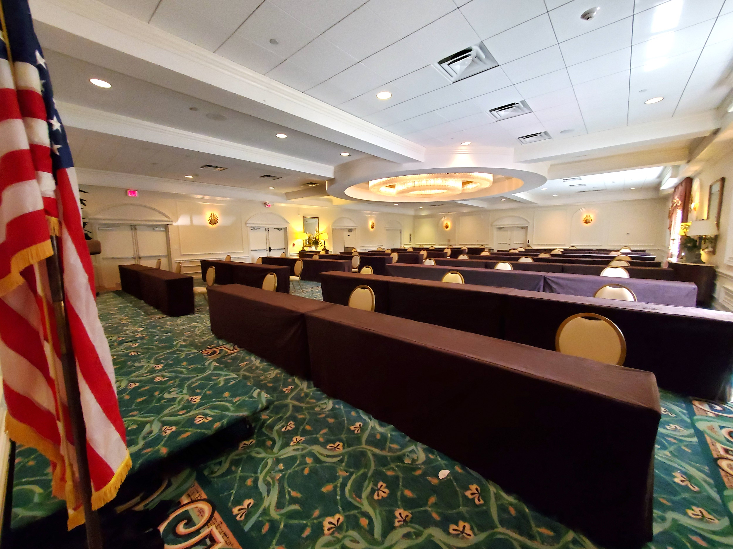 lago mar ballroom conference room updated brown suede