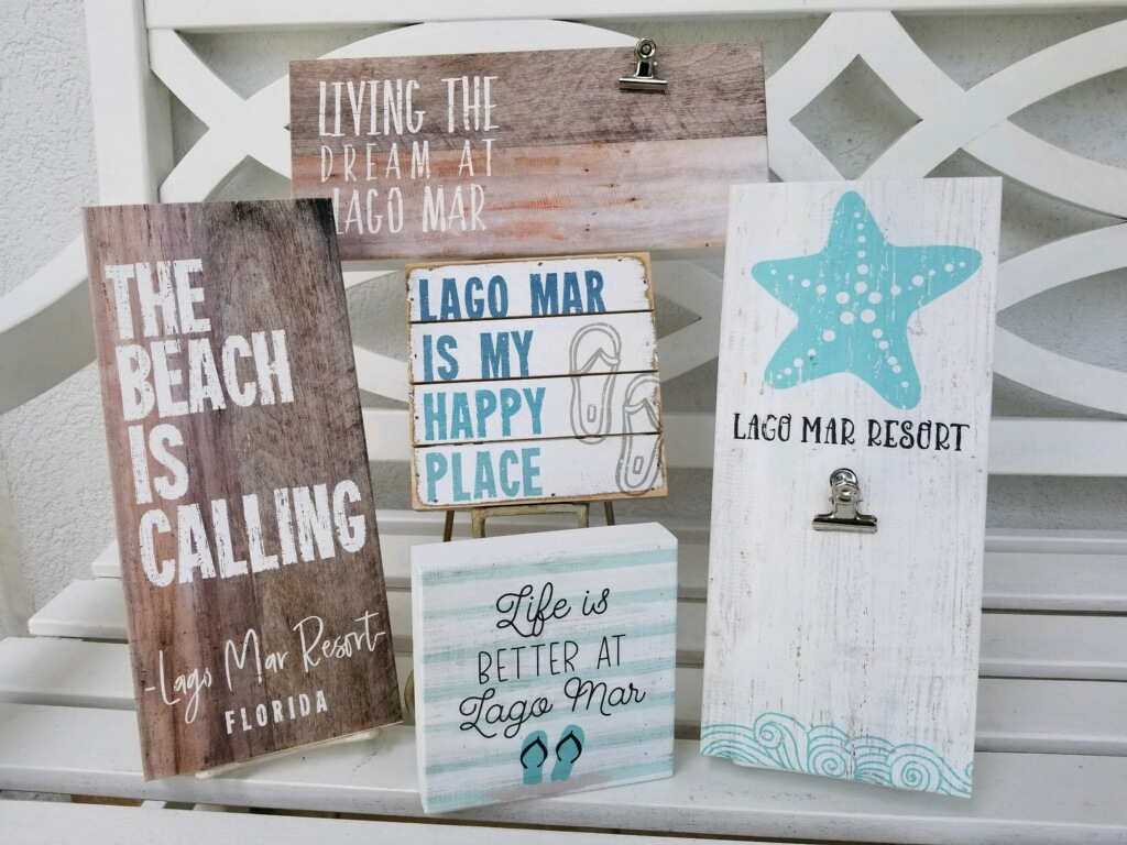 lago mar beach signs