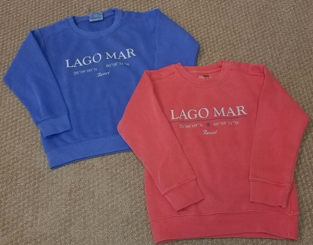 lago mar logo sweatshirts