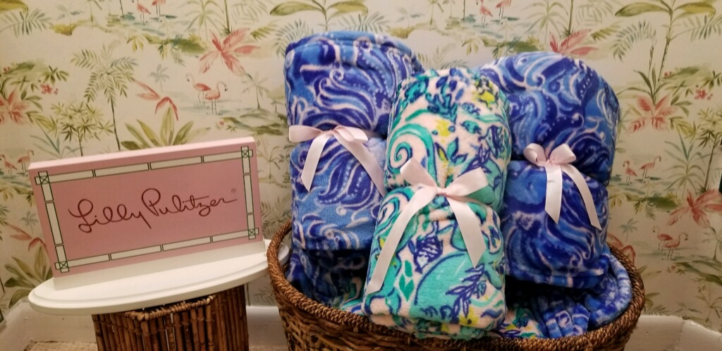 lilly pulitzer fuzzy blankets