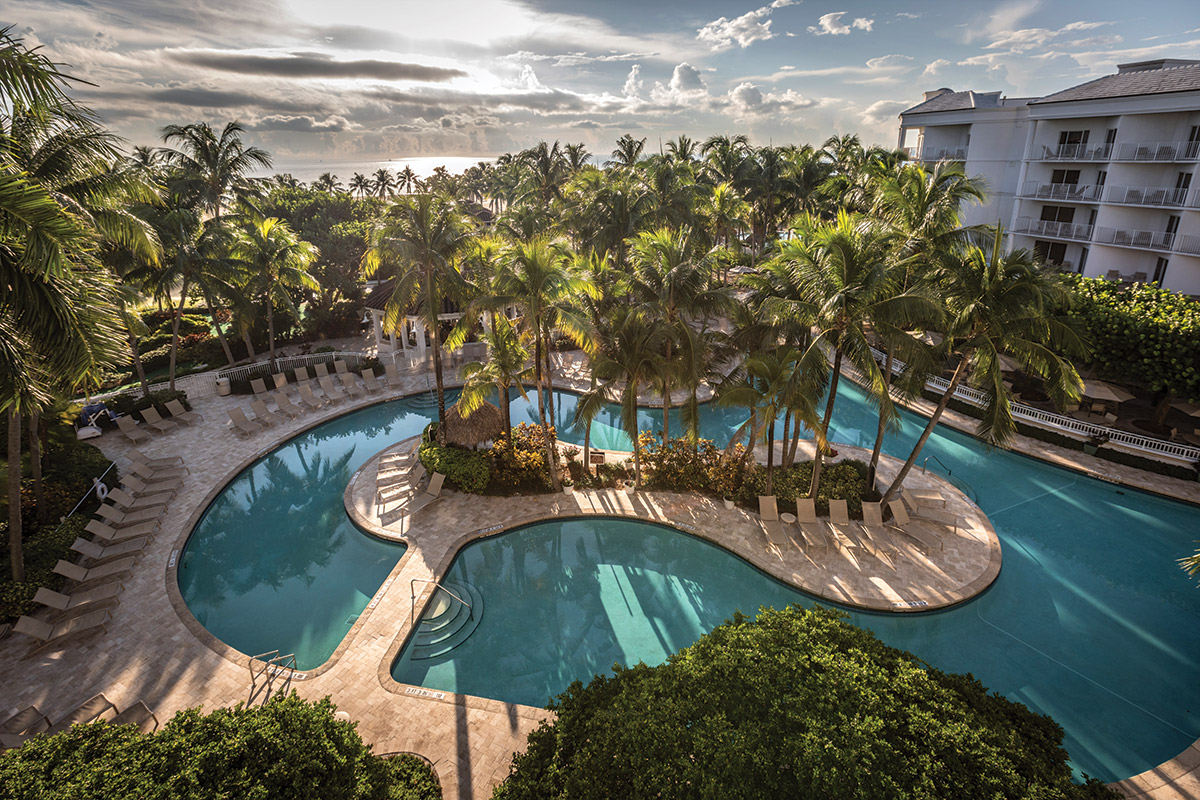 lago mar resort lagoon pool and beach aerial view fort lauderdale